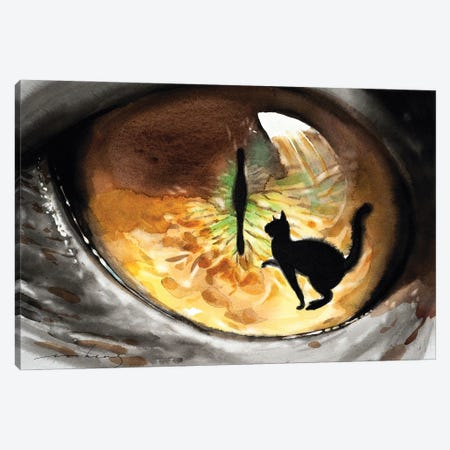 Cat Seen Canvas Print #LIM126} by Soo Beng Lim Canvas Art