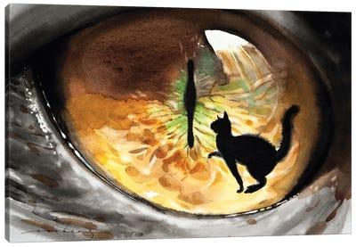 Cat Seen Canvas Art Print