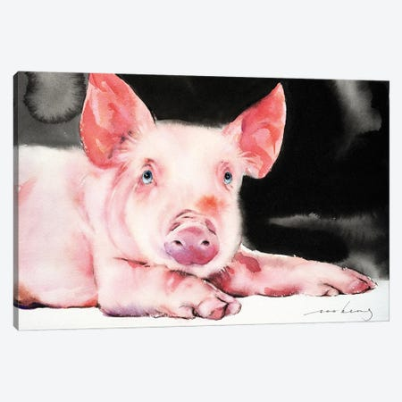 Prosperity Pig V Canvas Print #LIM138} by Soo Beng Lim Canvas Wall Art