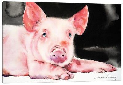 Prosperity Pig V Canvas Art Print