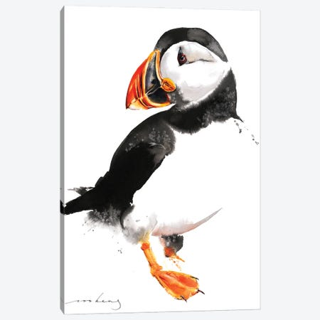 Puffin Canvas Print #LIM139} by Soo Beng Lim Canvas Artwork