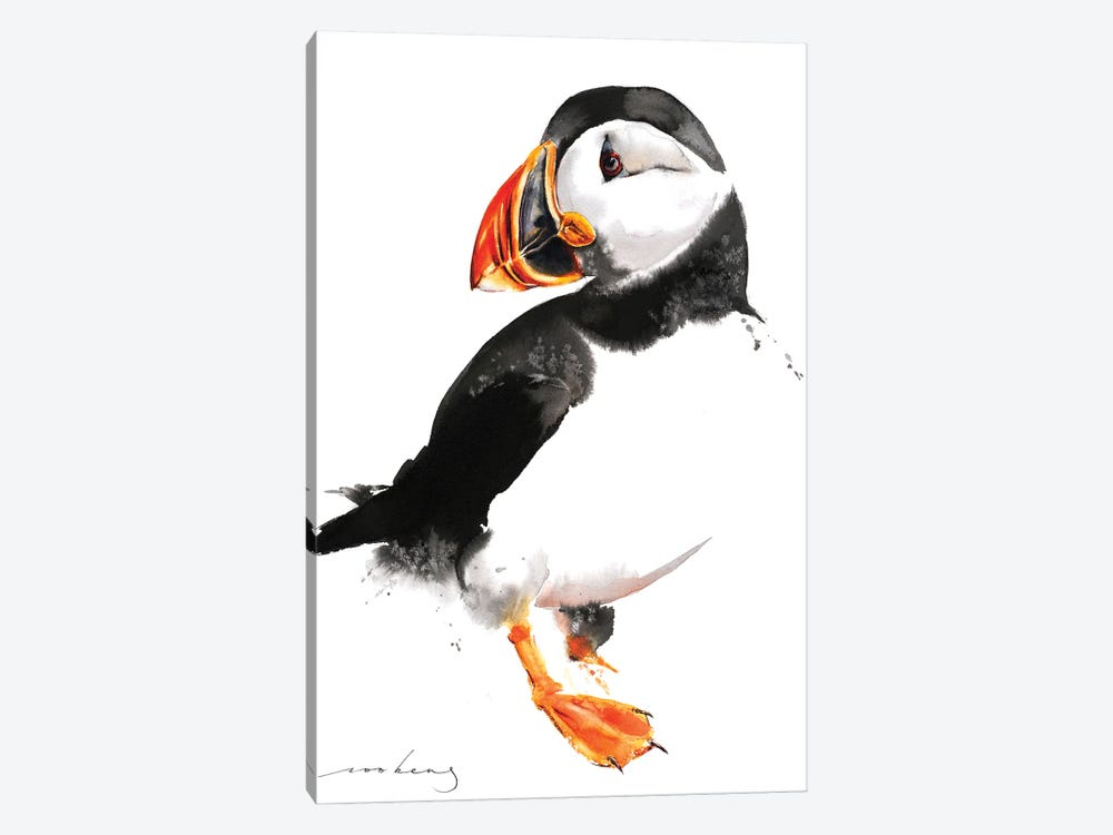 Puffin by Soo Beng Lim 1-piece Canvas Print