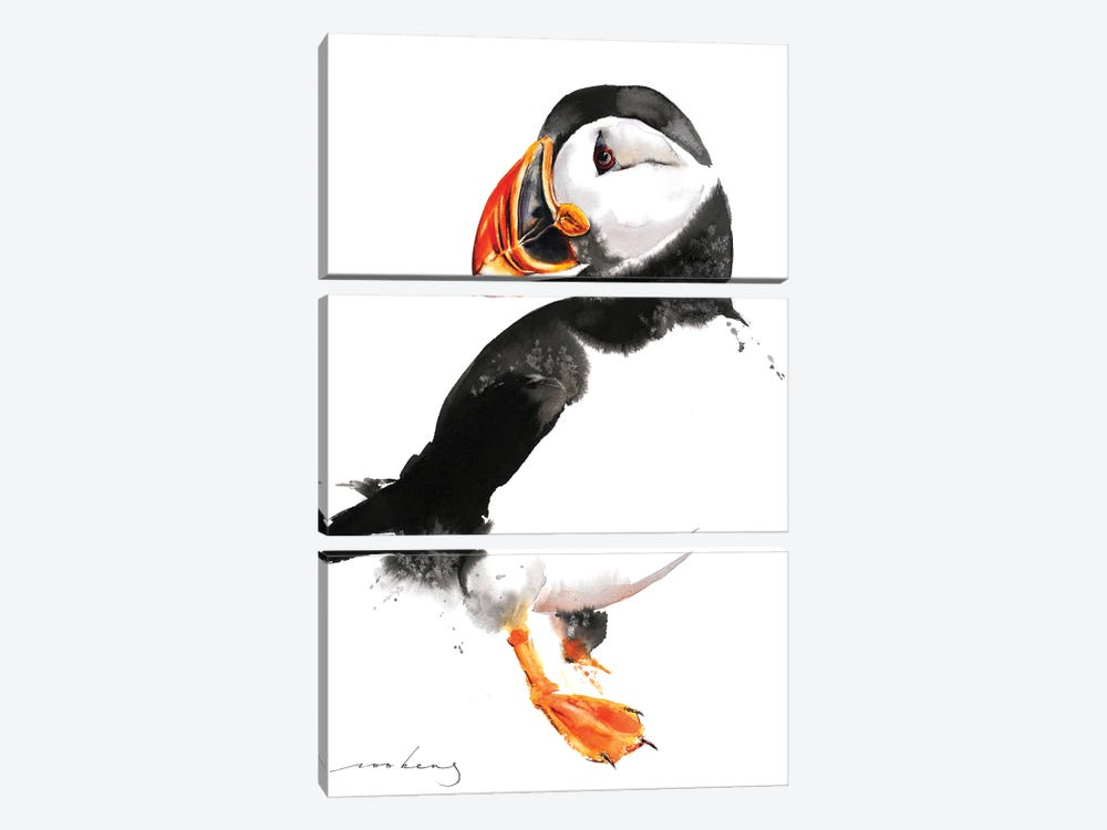 Puffin by Soo Beng Lim 3-piece Canvas Print