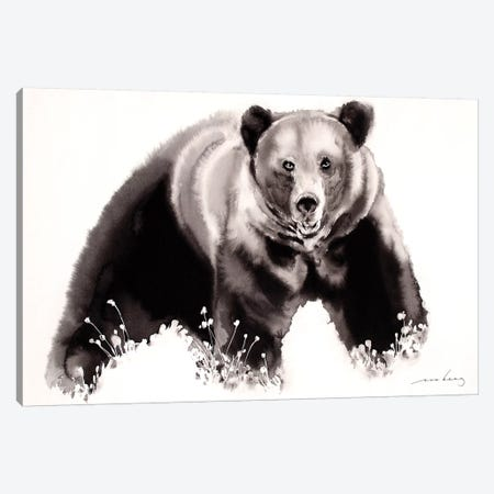 Brown Bear Canvas Print #LIM13} by Soo Beng Lim Canvas Artwork