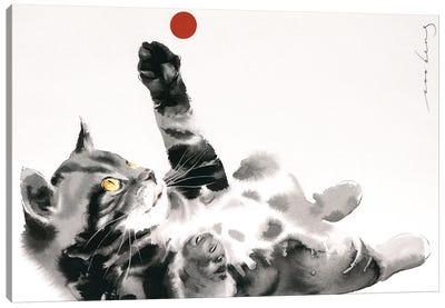 Red Ball III Canvas Art Print