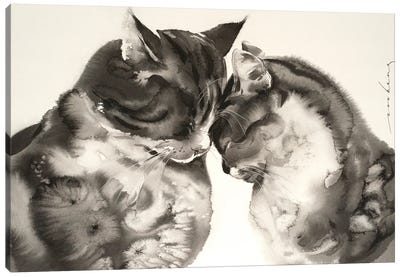 Tender Love Canvas Art Print
