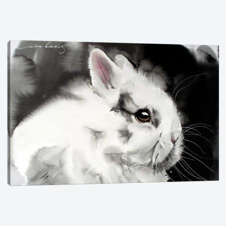 White Rabbit Canvas Print #LIM148} by Soo Beng Lim Canvas Print