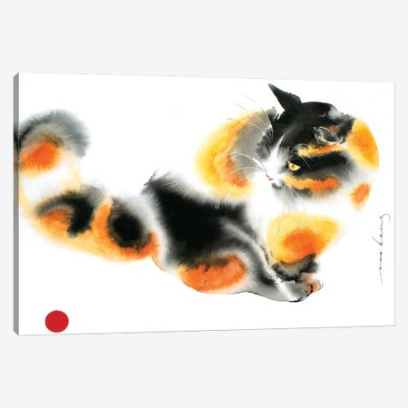 Gingery Cat Canvas Print #LIM155} by Soo Beng Lim Canvas Print