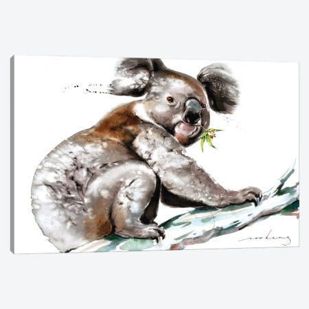 Koala Munch Canvas Print #LIM164} by Soo Beng Lim Canvas Art
