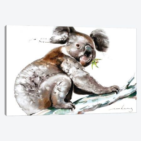 Koala Munch Canvas Print #LIM164} by Soo Beng Lim Canvas Art