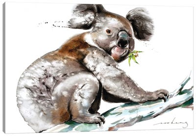 Koala Munch Canvas Art Print