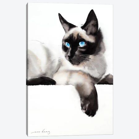 Cat Gaze Canvas Print #LIM16} by Soo Beng Lim Canvas Print