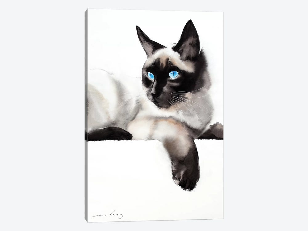 Cat Gaze by Soo Beng Lim 1-piece Canvas Art Print