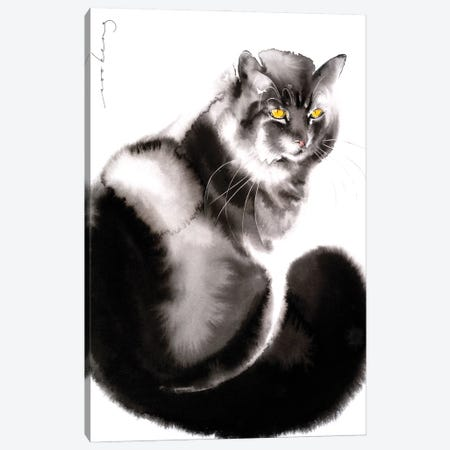 Kitty Welcome II Canvas Print #LIM171} by Soo Beng Lim Canvas Artwork