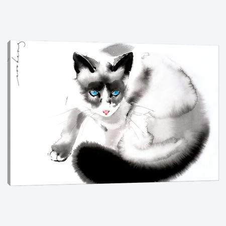 Cat Curiosity II Canvas Print #LIM173} by Soo Beng Lim Canvas Wall Art
