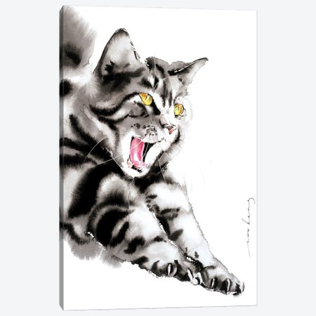 Blissful Yawn Canvas Print #LIM177} by Soo Beng Lim Art Print