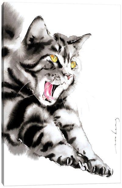Blissful Yawn Canvas Art Print