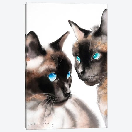 Cat Mate Canvas Print #LIM17} by Soo Beng Lim Canvas Print