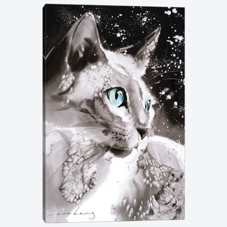 Cool Cat Canvas Print #LIM184} by Soo Beng Lim Canvas Wall Art