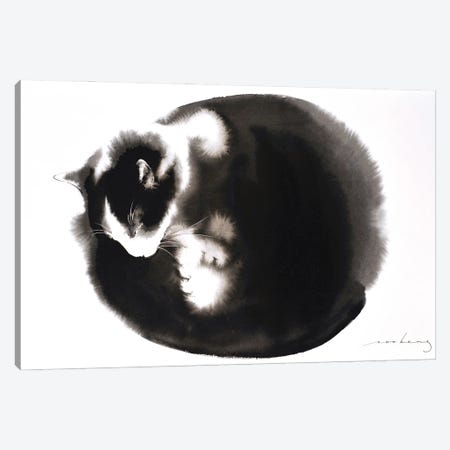 Kitty Ball Of Fur II Canvas Print #LIM185} by Soo Beng Lim Canvas Art
