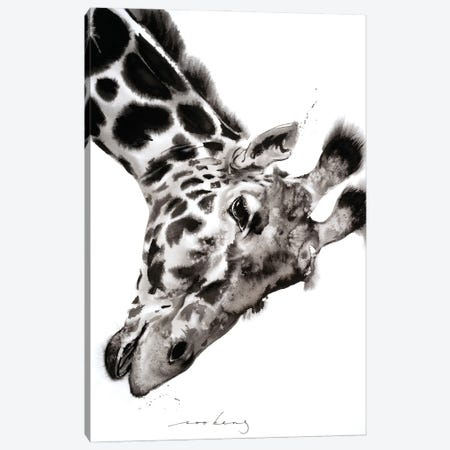 Giraffe Canvas Print #LIM189} by Soo Beng Lim Canvas Art Print