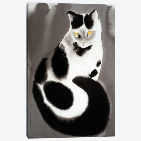 Kitty Pose Canvas Print #LIM190} by Soo Beng Lim Canvas Artwork