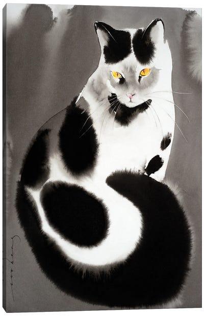 Kitty Pose Canvas Art Print