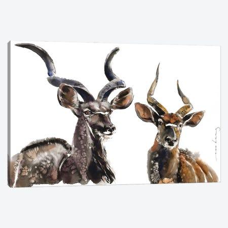 Antelope Charm Canvas Print #LIM192} by Soo Beng Lim Canvas Wall Art