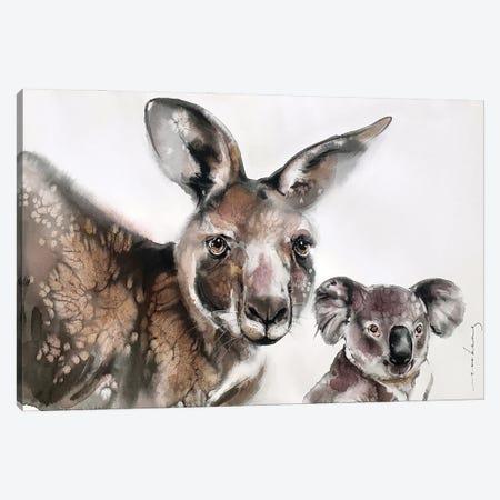 Aussie Mates Canvas Print #LIM193} by Soo Beng Lim Canvas Art