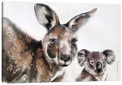 Aussie Mates Canvas Art Print
