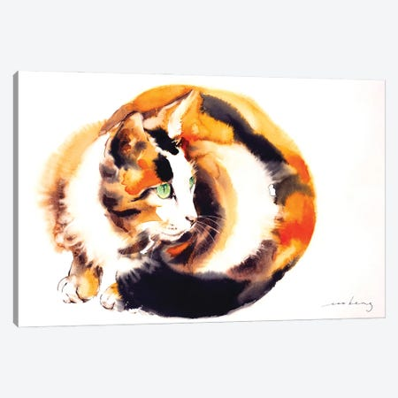 Ginger Cat Canvas Print #LIM205} by Soo Beng Lim Canvas Art Print