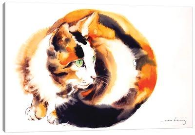 Ginger Cat Canvas Art Print