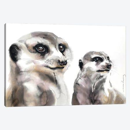 Meerkat Loyalty Canvas Print #LIM210} by Soo Beng Lim Canvas Print