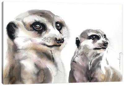 Meerkat Loyalty Canvas Art Print