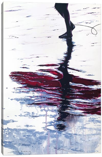 Steps Of Reflection Canvas Art Print