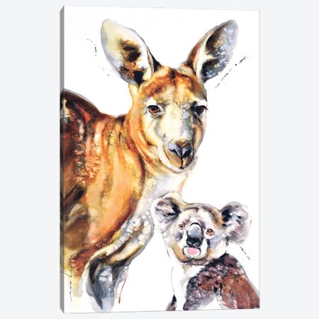 Aussie Mates II Canvas Print #LIM221} by Soo Beng Lim Canvas Wall Art