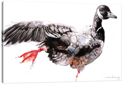 Geese Dance II Canvas Art Print