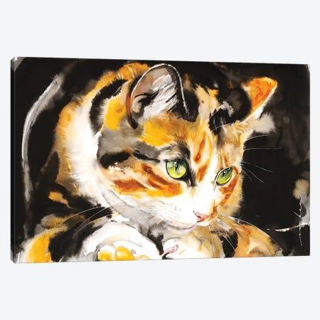 Kitty Honey Canvas Print #LIM227} by Soo Beng Lim Art Print