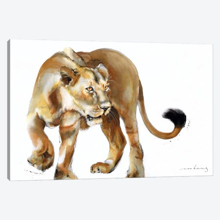 Lion Hunt Canvas Print #LIM248} by Soo Beng Lim Canvas Wall Art