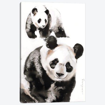 Panda Pair Canvas Print #LIM255} by Soo Beng Lim Canvas Art