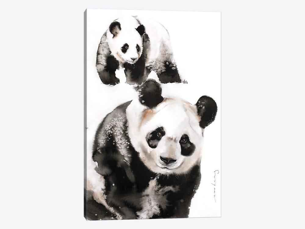 Panda Pair by Soo Beng Lim 1-piece Canvas Print