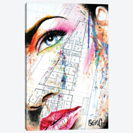 Contemporary Woman I Canvas Print #LIM29} by Soo Beng Lim Canvas Print