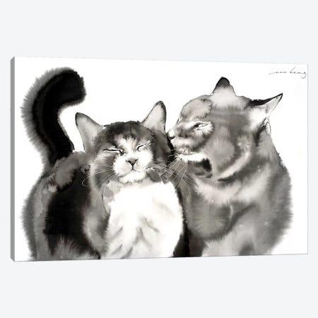 Adoring Love Canvas Print #LIM2} by Soo Beng Lim Art Print