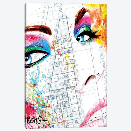 Contemporary Woman II Canvas Print #LIM30} by Soo Beng Lim Canvas Wall Art