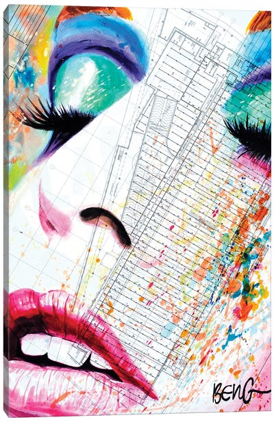 Contemporary Woman III Canvas Art Print