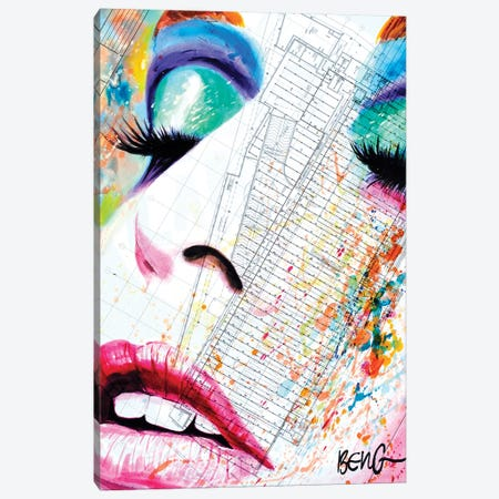 Contemporary Woman III Canvas Print #LIM31} by Soo Beng Lim Canvas Art