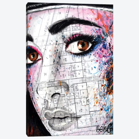 Contemporary Woman V Canvas Print #LIM33} by Soo Beng Lim Canvas Wall Art