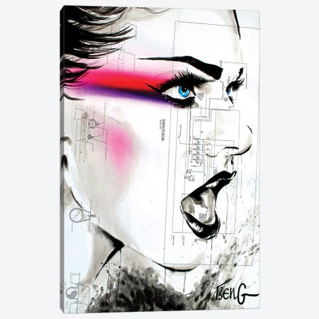 Contemporary Woman VIII Canvas Print #LIM36} by Soo Beng Lim Canvas Print