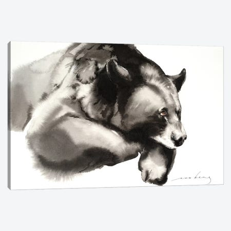Cosy Bear Canvas Print #LIM40} by Soo Beng Lim Art Print
