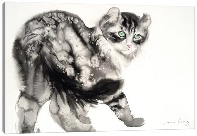 Demure Kitty Canvas Art Print
